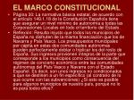 el marco constitucional