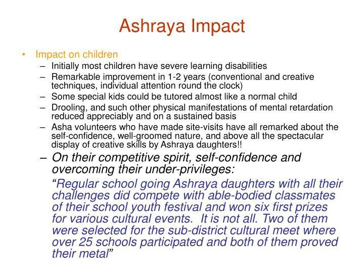 Ashraya Impact