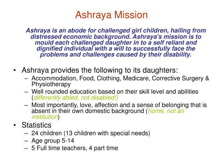 Ashraya Mission