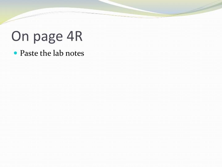 On page 4R