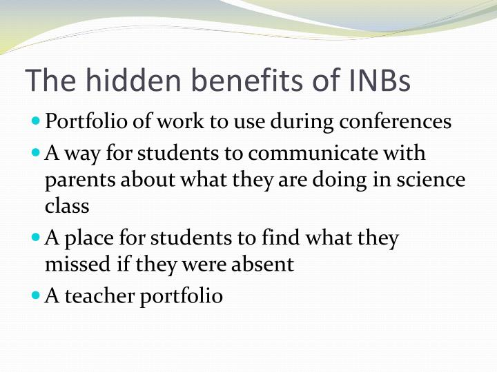 The hidden benefits of INBs