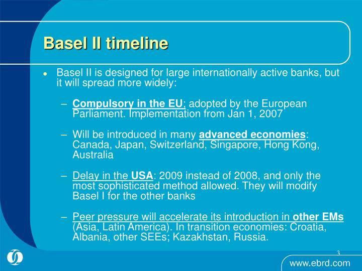 Basel ii timeline