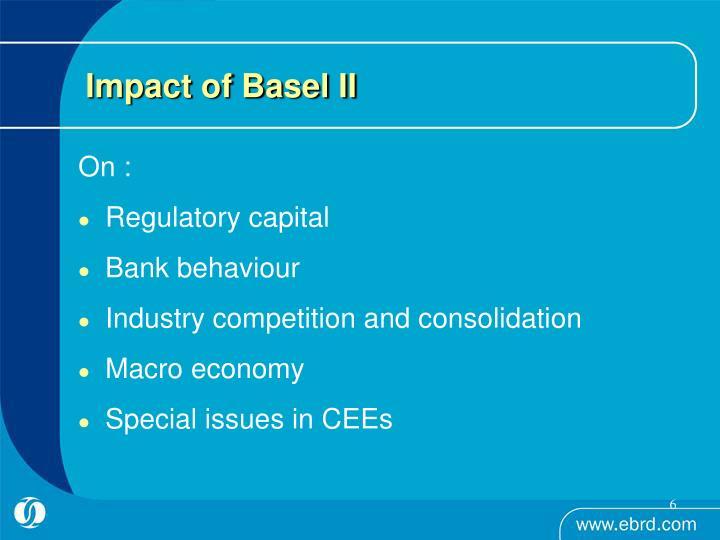 Impact of Basel II