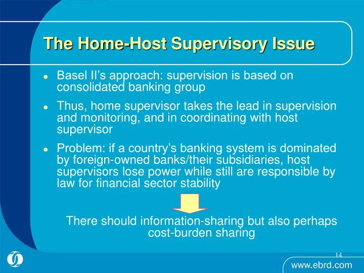 The Home-Host Supervisory Issue