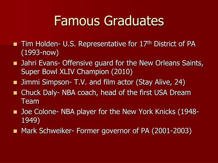 Famous Graduates