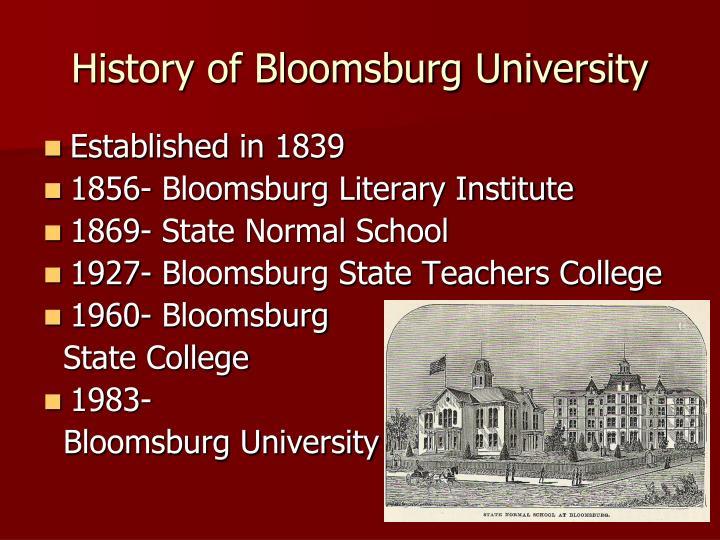 History of Bloomsburg University