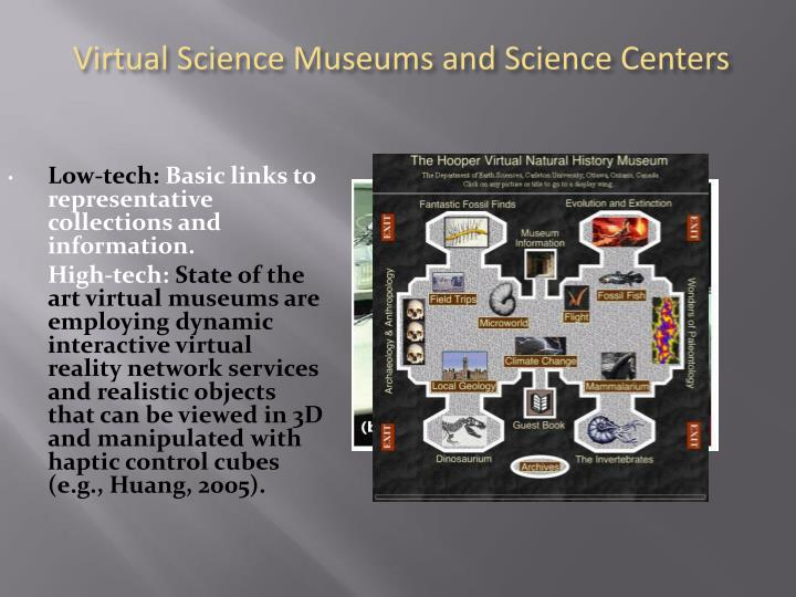 Virtual Science Museums and Science Centers