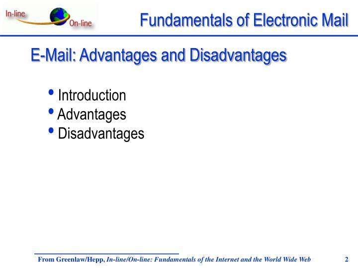 E-Mail: Advantages and Disadvantages