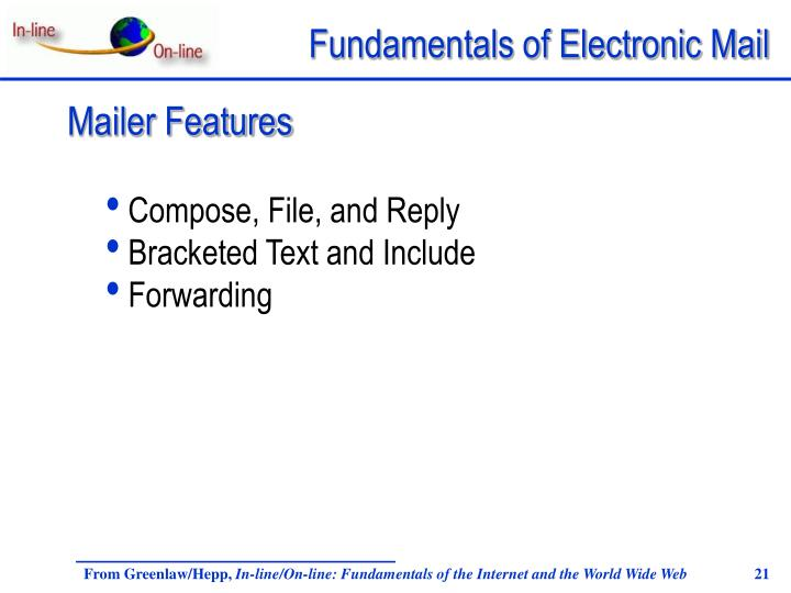 Mailer Features