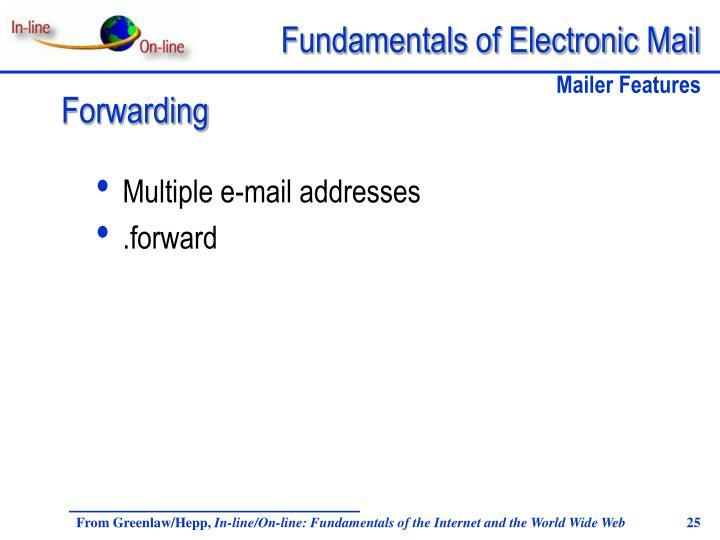 Multiple e-mail addresses
