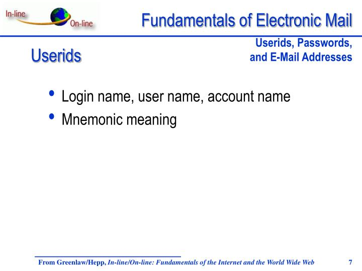 Login name, user name, account name