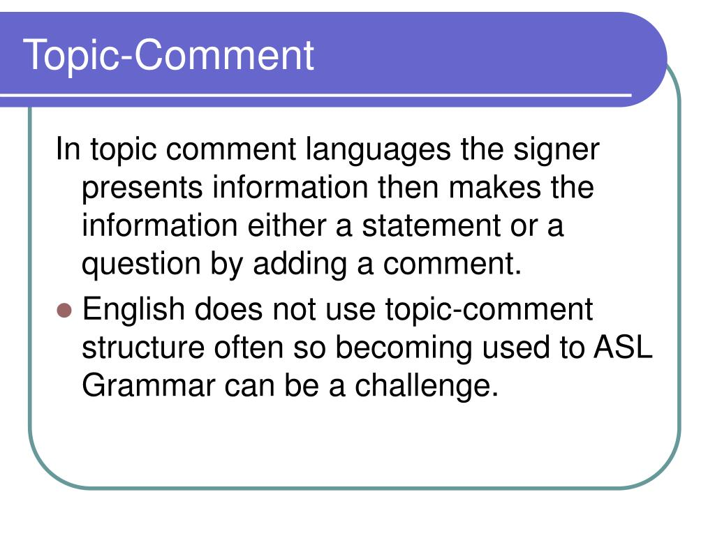 Ppt - Asl Grammar Powerpoint Presentation  Free Download