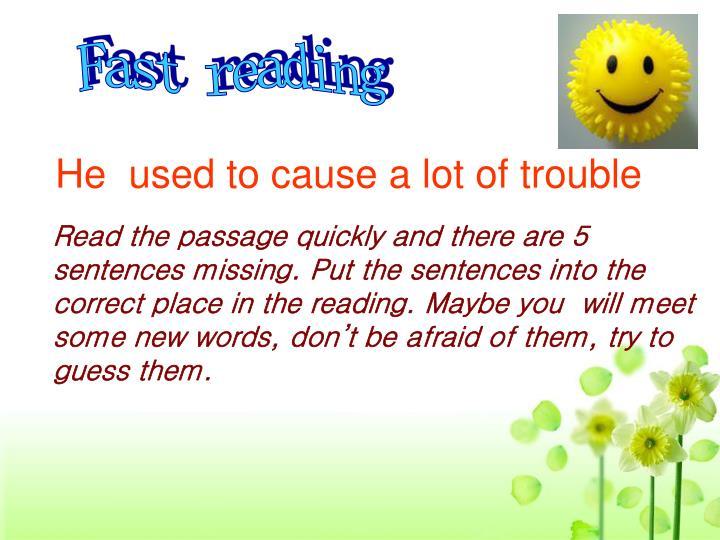 Fast reading