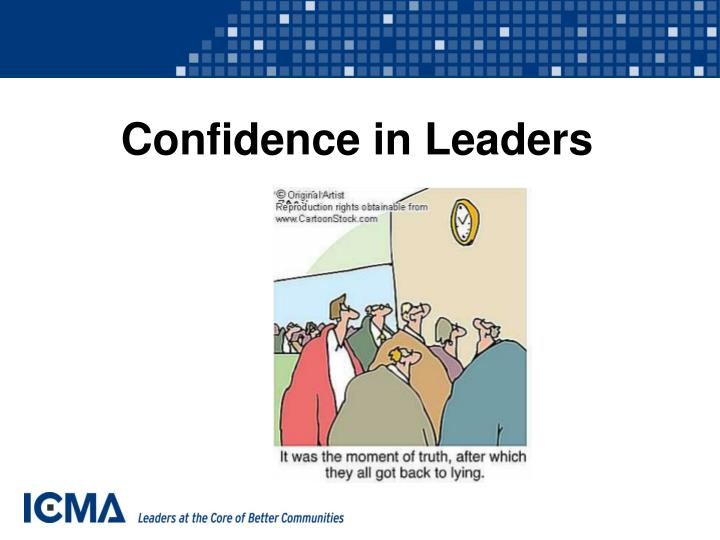 Confidence in Leaders
