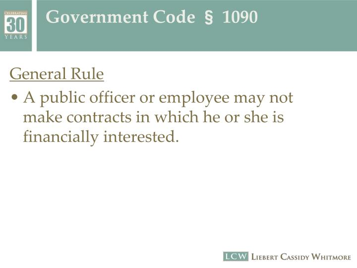 Government code 1090