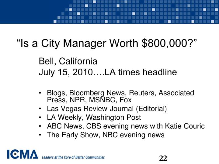 """""""Is a City Manager Worth $800,000?"""""""