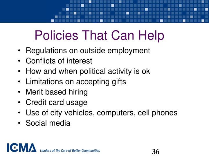 Policies That Can Help