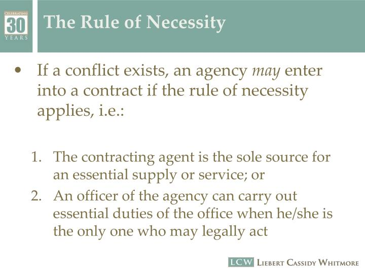 The Rule of Necessity