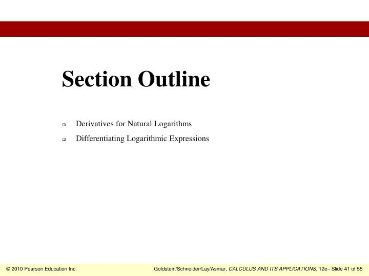 Section Outline