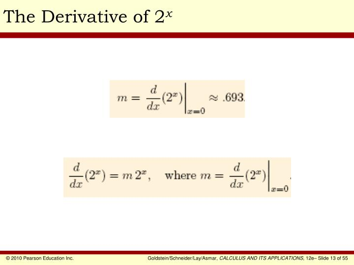 The Derivative of 2