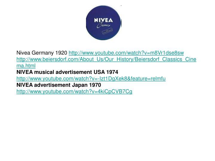 Nivea Germany 1920