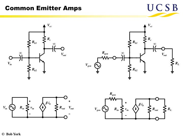 Common emitter amps