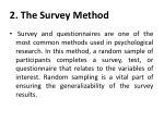 2 the survey method