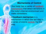 mechanisms of control1