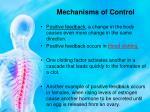 mechanisms of control2