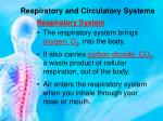 respiratory and circulatory systems1