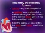 respiratory and circulatory systems5