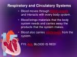 respiratory and circulatory systems7