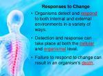 responses to change1