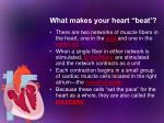 what makes your heart beat