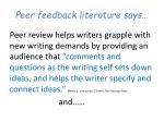 peer feedback literature says