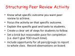 structuring peer review activity