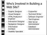 who s involved in building a web site