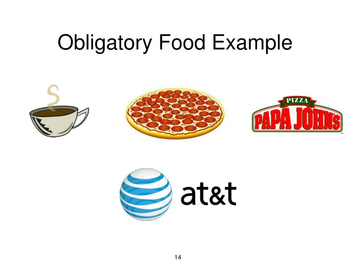 Obligatory Food Example