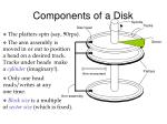 components of a disk