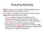 ensuring atomicity