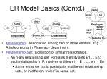 er model basics contd