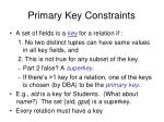 primary key constraints