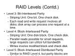 raid levels contd