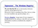 digression the windows registry