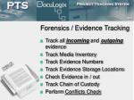 forensics evidence tracking