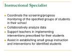 instructional specialist