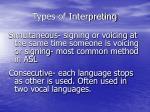 types of interpreting