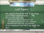 lost papers