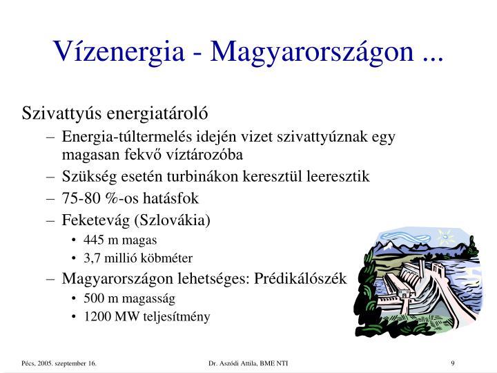 Vízenergia - Magyarországon ...