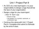 unit 1 project part 9